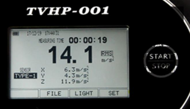 一目でわかる測定時間や振動地
